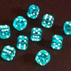 12mm Gem Spot Dice - Aqua